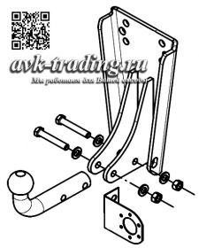 Фаркоп Bosal VFM 6501-A для УАЗ 469, 31512, 3303, 2206, 3962 с шаром типа A