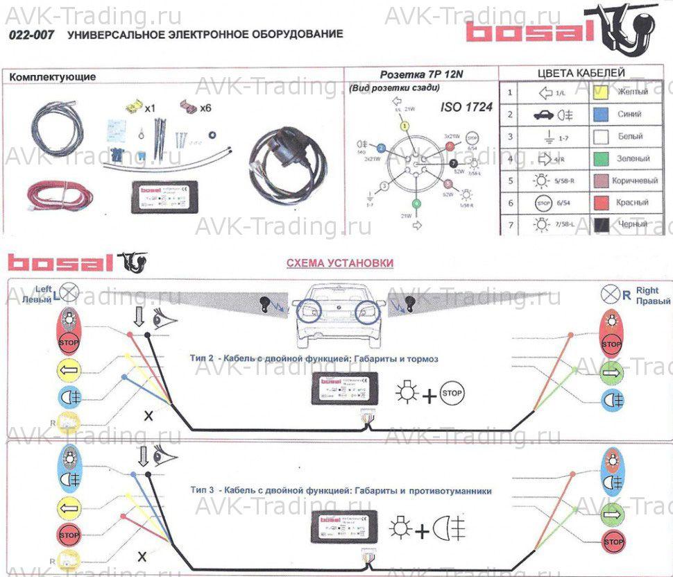 Схема фаркопа электрика